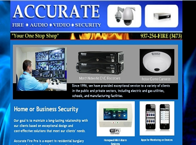 Security Alarms Dayton Ohio - HTML Static Landing Page